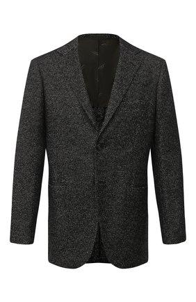 Мужской пиджак из кашемира и шелка KITON темно-зеленого цвета, арт. UG81K01T60 | Фото 1