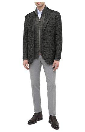 Мужской пиджак из кашемира и шелка KITON темно-зеленого цвета, арт. UG81K01T60 | Фото 2