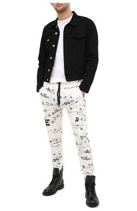 Мужской хлопковые джоггеры DOLCE & GABBANA белого цвета, арт. GW7TAT/FI74S | Фото 2