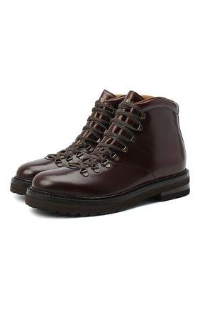 Мужские кожаные ботинки H`D`S`N BARACCO коричневого цвета, арт. 58517.0* | Фото 1