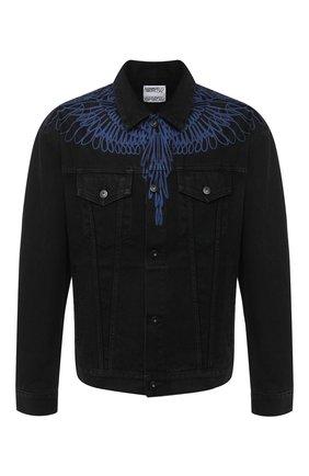 Мужская джинсовая куртка MARCELO BURLON черного цвета, арт. CMYE001E20DEN003 | Фото 1