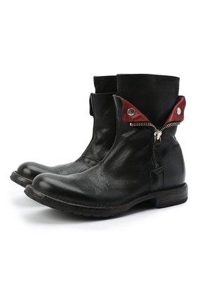 Мужские кожаные сапоги MOMA черного цвета, арт. 2CW080-CUBECU | Фото 1