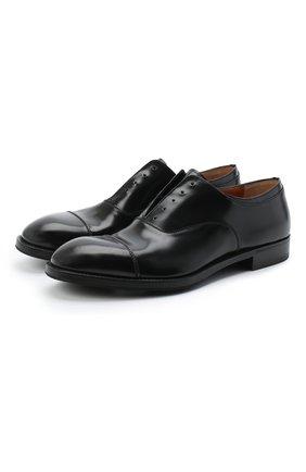 Мужские кожаные оксфорды PREMIATA черного цвета, арт. PREMIATA 446/REAL | Фото 1 (Материал внутренний: Натуральная кожа; Стили: Классический)