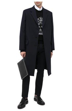 Мужской кожаные дерби valentino garavani VALENTINO черного цвета, арт. UY2S0C21/PMF | Фото 2