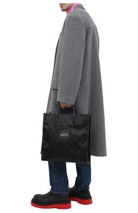 Мужская текстильная сумка-тоут off the grid GUCCI черного цвета, арт. 630355/H9HAN | Фото 2