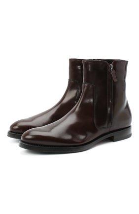 Мужские кожаные сапоги W.GIBBS темно-коричневого цвета, арт. 8378133/0238 | Фото 1