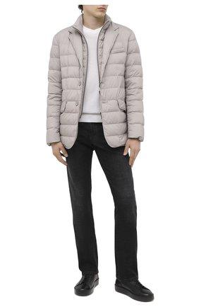 Мужские кожаные кеды W.GIBBS черного цвета, арт. 2259006/2258 | Фото 2