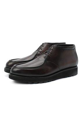 Мужские кожаные ботинки W.GIBBS коричневого цвета, арт. 0877001/0117 | Фото 1