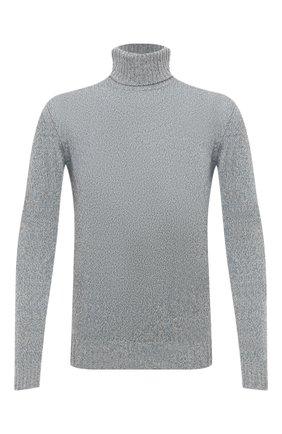 Мужской кашемировый свитер LORO PIANA голубого цвета, арт. FAG3513 | Фото 1