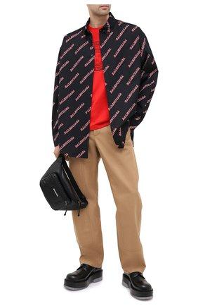 Мужская хлопковая рубашка BALENCIAGA черного цвета, арт. 627023/TILR8 | Фото 2