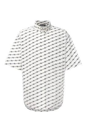 Мужская хлопковая рубашка BALENCIAGA черно-белого цвета, арт. 626938/TILS7 | Фото 1