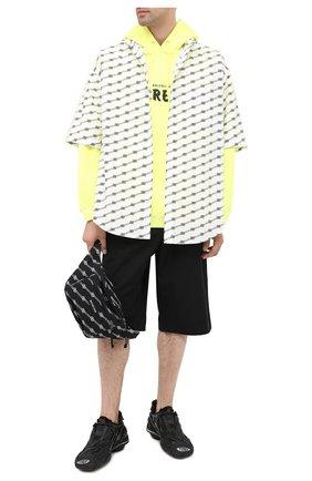 Мужская хлопковая рубашка BALENCIAGA черно-белого цвета, арт. 626938/TILS7 | Фото 2