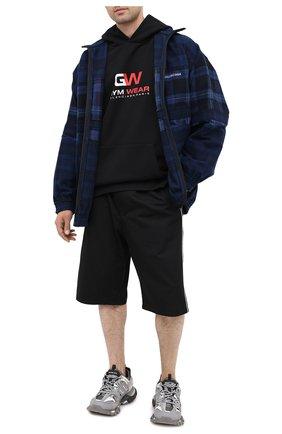 Мужские хлопковые шорты BALENCIAGA черного цвета, арт. 626579/TIM39 | Фото 2
