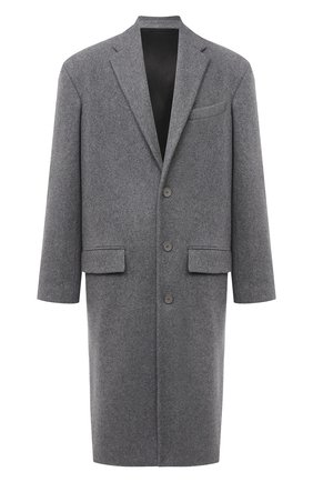 Мужской шерстяное пальто BALENCIAGA серого цвета, арт. 626533/TIU13   Фото 1