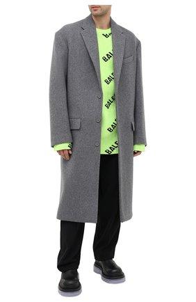 Мужской шерстяное пальто BALENCIAGA серого цвета, арт. 626533/TIU13   Фото 2