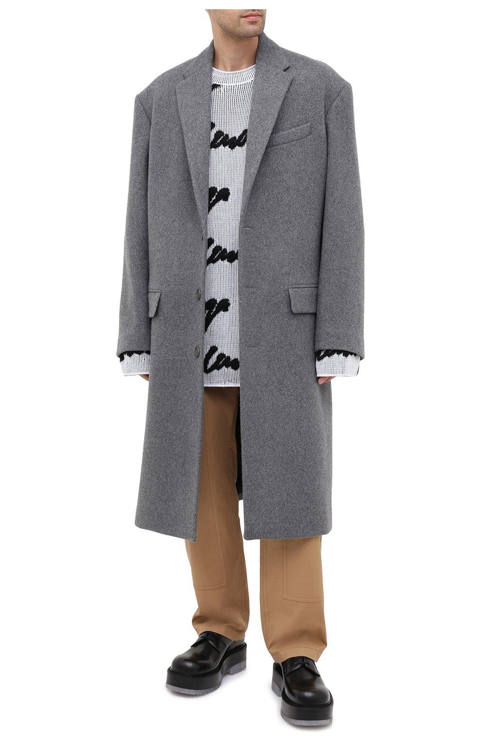 Мужской шерстяное пальто BALENCIAGA серого цвета, арт. 626533/TIU13   Фото 3
