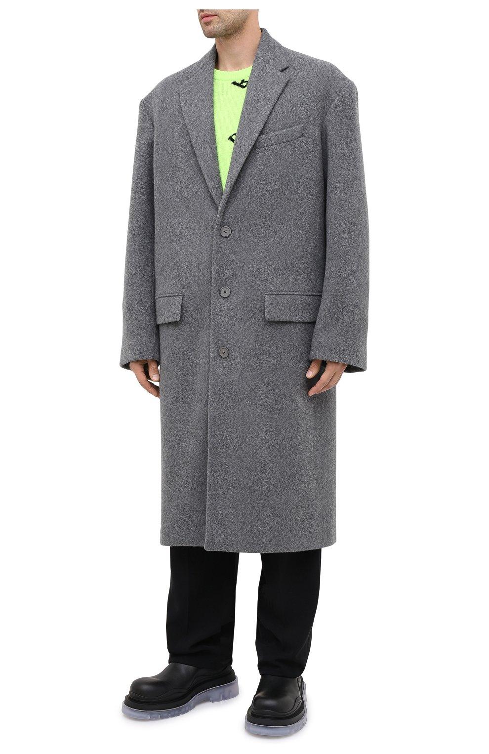 Мужской шерстяное пальто BALENCIAGA серого цвета, арт. 626533/TIU13   Фото 4
