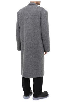 Мужской шерстяное пальто BALENCIAGA серого цвета, арт. 626533/TIU13   Фото 5