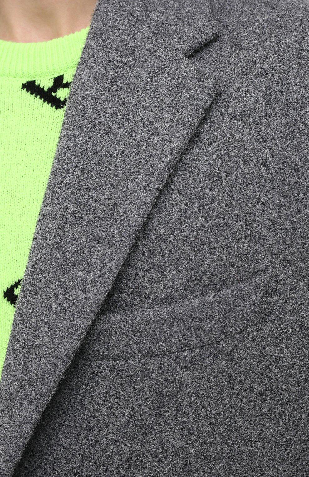 Мужской шерстяное пальто BALENCIAGA серого цвета, арт. 626533/TIU13   Фото 6