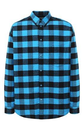 Мужская хлопковая куртка-рубашка BALENCIAGA синего цвета, арт. 626327/TIM26   Фото 1