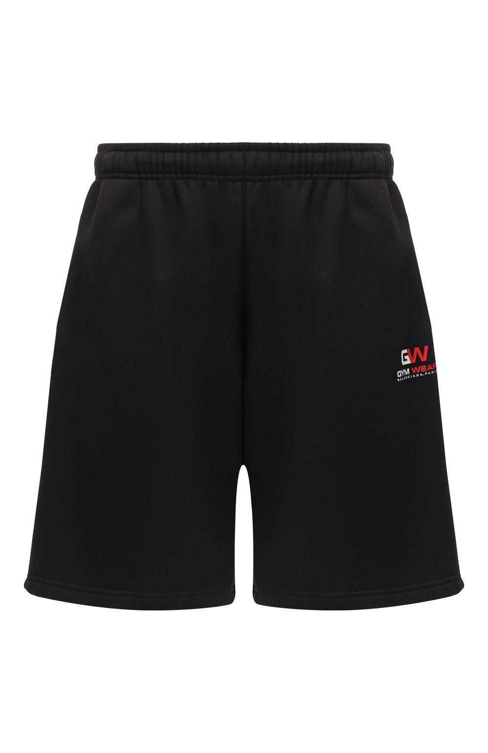 Мужские хлопковые шорты BALENCIAGA черного цвета, арт. 626312/TIVD4 | Фото 1