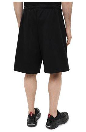 Мужские хлопковые шорты BALENCIAGA черного цвета, арт. 626312/TIVD4 | Фото 4