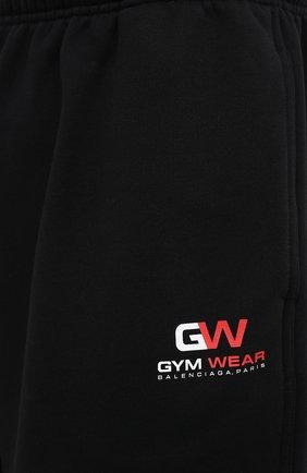 Мужские хлопковые шорты BALENCIAGA черного цвета, арт. 626312/TIVD4 | Фото 5