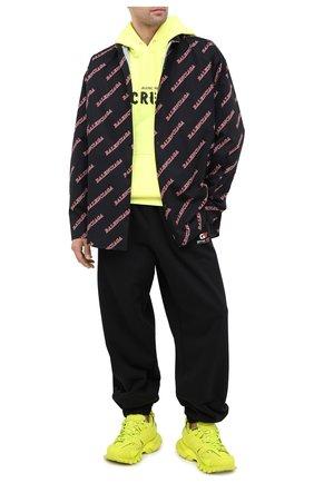 Мужской хлопковые джоггеры BALENCIAGA черного цвета, арт. 626310/TIVD4 | Фото 2