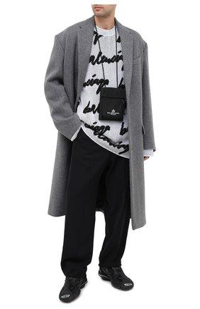 Мужской свитер из хлопка и шерсти BALENCIAGA черно-белого цвета, арт. 625985/T3180 | Фото 2