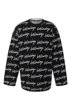 Мужской шерстяной свитер BALENCIAGA черно-белого цвета, арт. 625984/T3184 | Фото 1