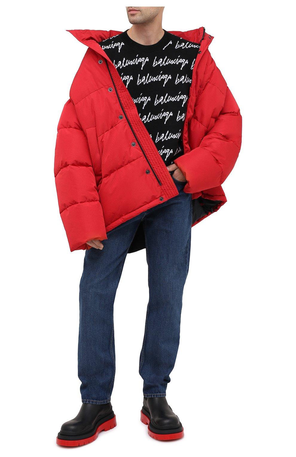 Мужской шерстяной свитер BALENCIAGA черно-белого цвета, арт. 625984/T3184 | Фото 2
