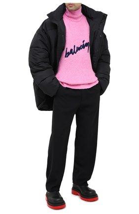 Мужской хлопковый свитер BALENCIAGA розового цвета, арт. 625935/T3182 | Фото 2