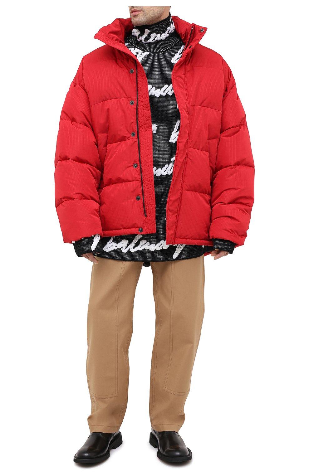 Мужской свитер из хлопка и шерсти BALENCIAGA черно-белого цвета, арт. 625927/T3180 | Фото 3