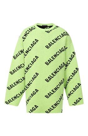 Мужской шерстяной свитер BALENCIAGA зеленого цвета, арт. 623283/T1567 | Фото 1