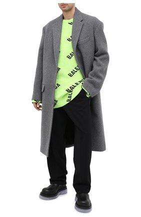 Мужской шерстяной свитер BALENCIAGA зеленого цвета, арт. 623283/T1567 | Фото 2