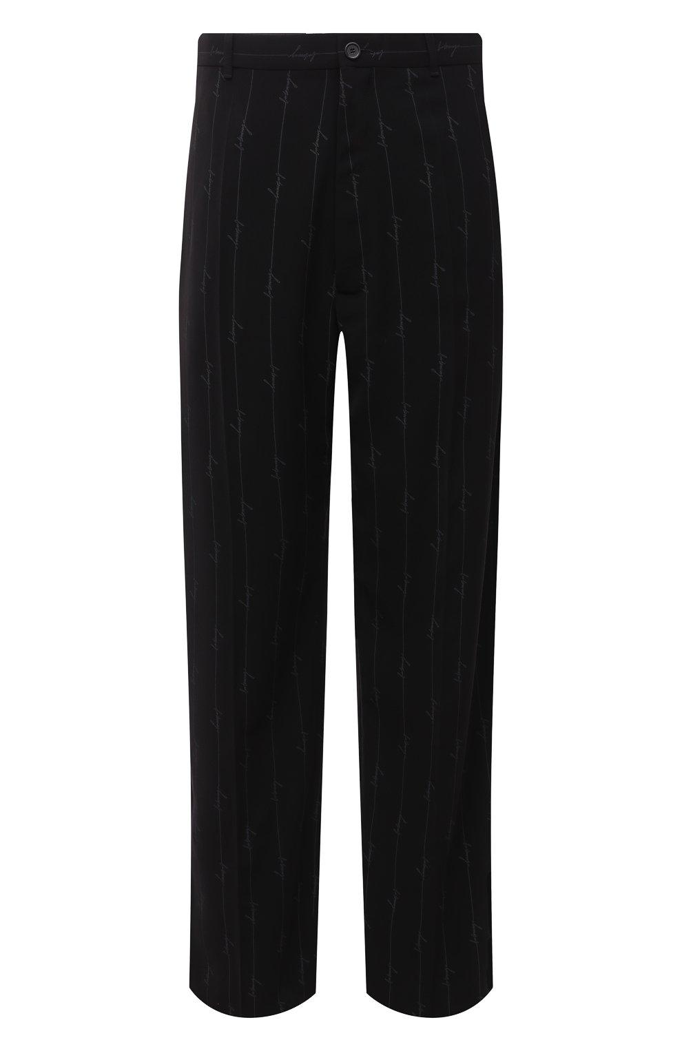 Мужские брюки BALENCIAGA черного цвета, арт. 621984/TILT7 | Фото 1