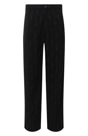Мужской брюки BALENCIAGA черного цвета, арт. 621984/TILT7 | Фото 1