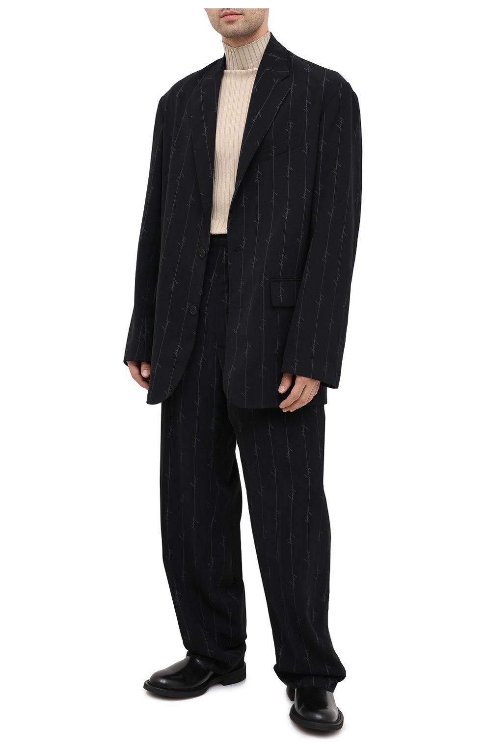 Мужские брюки BALENCIAGA черного цвета, арт. 621984/TILT7 | Фото 2