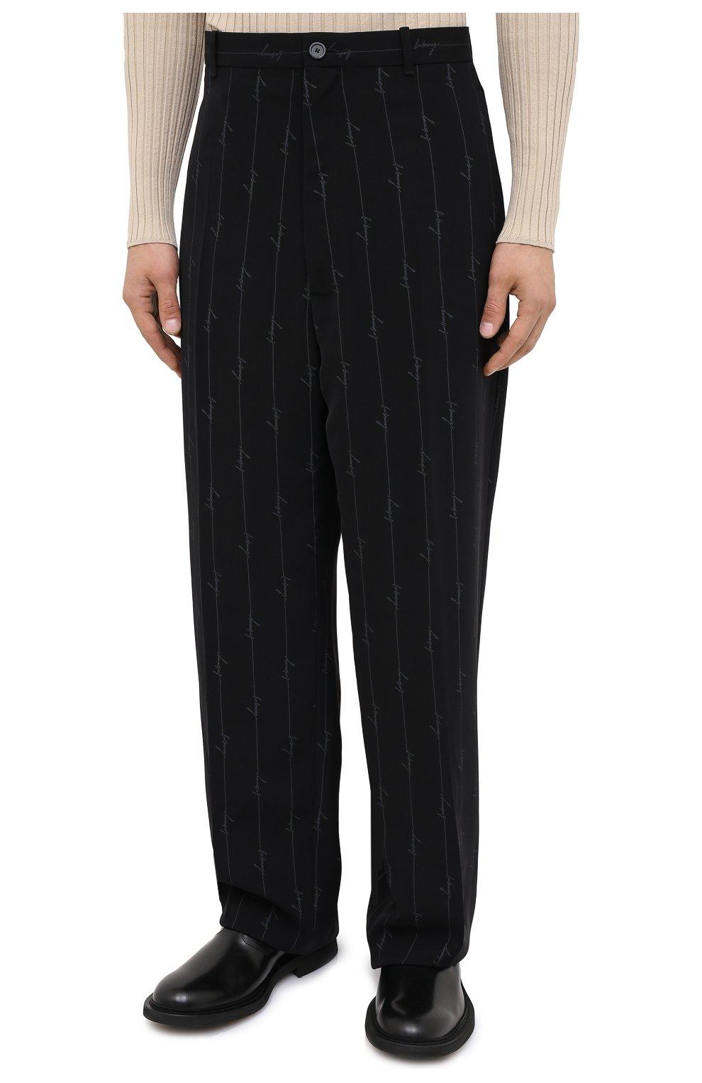 Мужские брюки BALENCIAGA черного цвета, арт. 621984/TILT7 | Фото 4