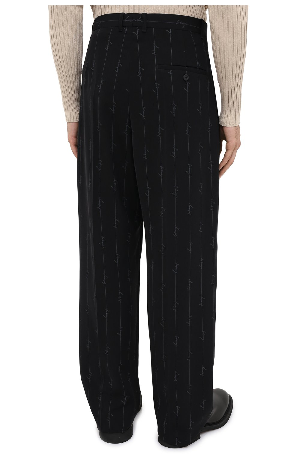 Мужские брюки BALENCIAGA черного цвета, арт. 621984/TILT7 | Фото 5