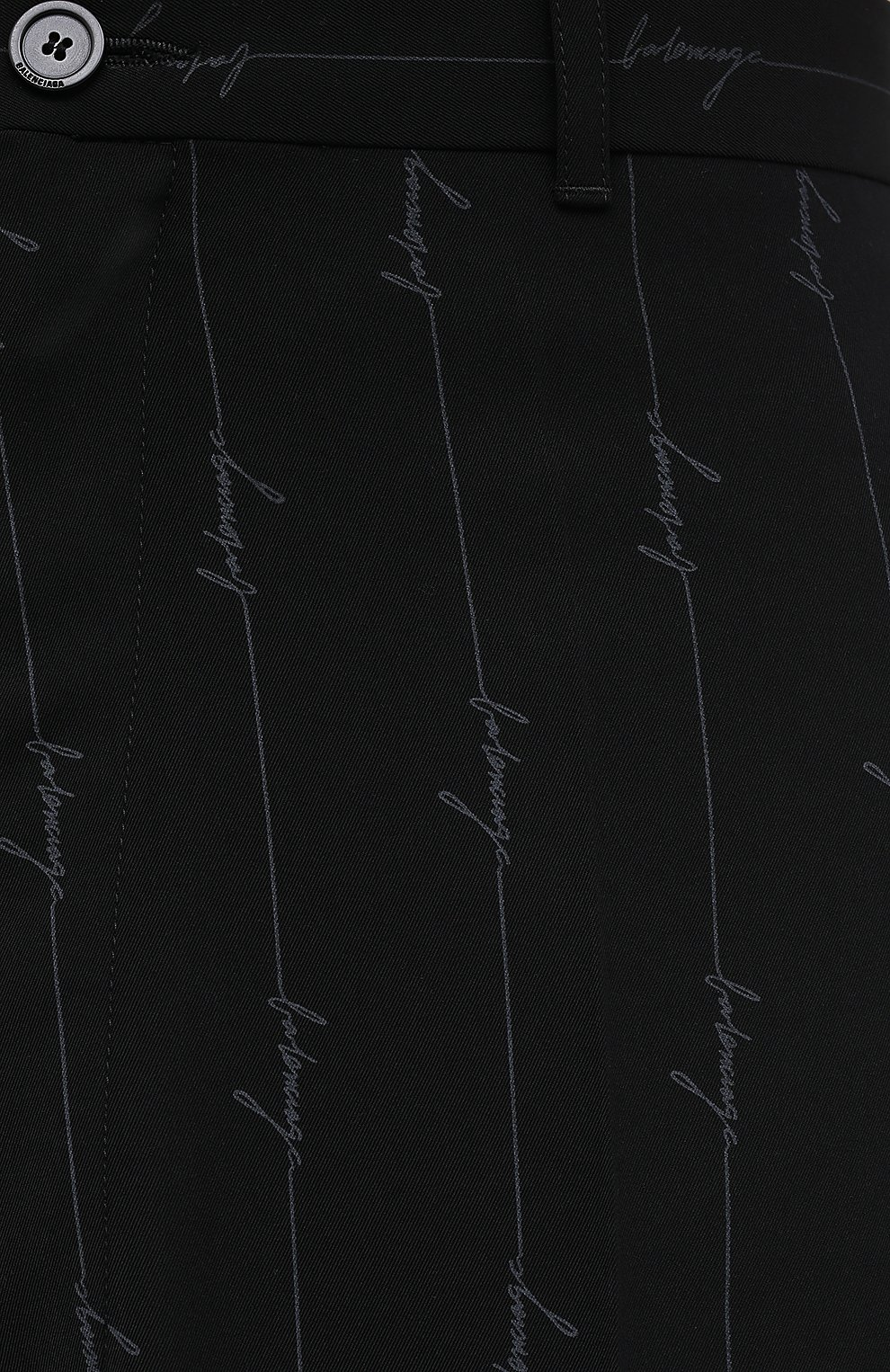 Мужские брюки BALENCIAGA черного цвета, арт. 621984/TILT7 | Фото 6