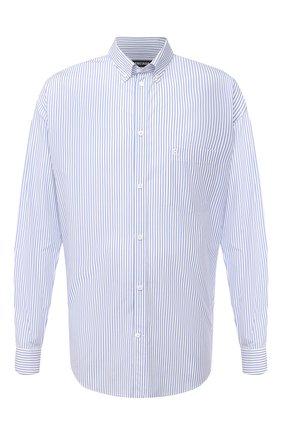 Мужская хлопковая рубашка BALENCIAGA голубого цвета, арт. 621924/TIM16   Фото 1