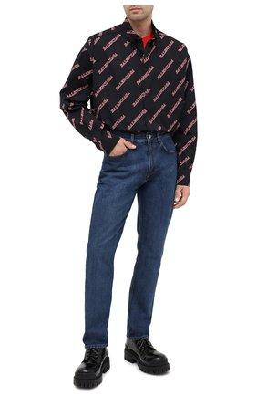 Мужские джинсы BALENCIAGA синего цвета, арт. 620737/TDW14 | Фото 2