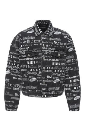Мужская джинсовая куртка BALENCIAGA серого цвета, арт. 620731/TEW35 | Фото 1