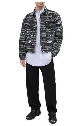 Мужская джинсовая куртка BALENCIAGA серого цвета, арт. 620731/TEW35 | Фото 2