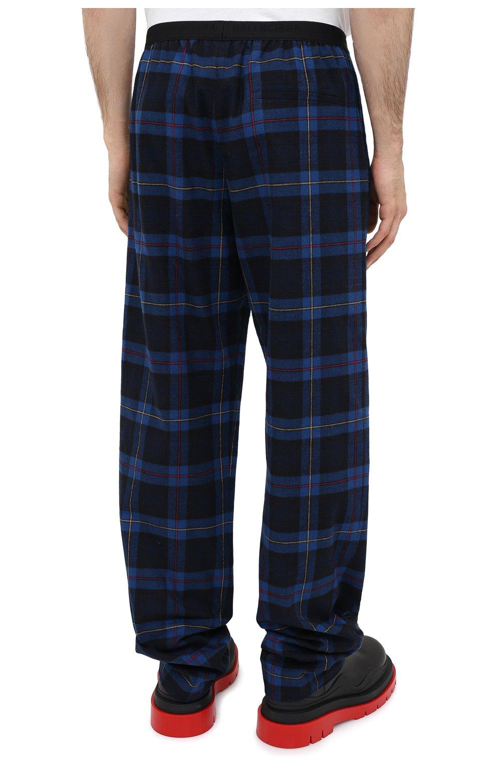 Мужские хлопковые брюки BALENCIAGA темно-синего цвета, арт. 608972/TIM19 | Фото 5
