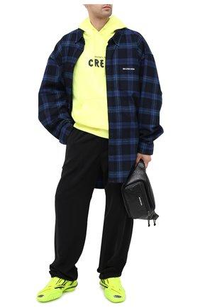 Мужской брюки BALENCIAGA черного цвета, арт. 608972/TB011 | Фото 2