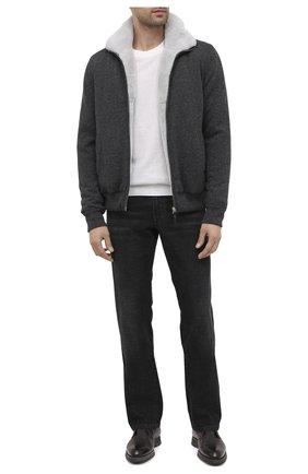 Мужская кашемировая куртка с меховой подкладкой SVEVO темно-серого цвета, арт. 0140SA20/MP01/2 | Фото 2