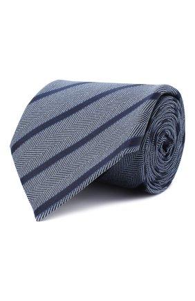 Мужской шелковый галстук ERMENEGILDO ZEGNA голубого цвета, арт. Z8D34/1UM | Фото 1