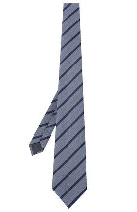 Мужской шелковый галстук ERMENEGILDO ZEGNA голубого цвета, арт. Z8D34/1UM | Фото 2